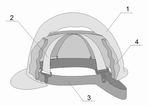 Figure3 Construction Of A High Performance Industrial Safety Helmet